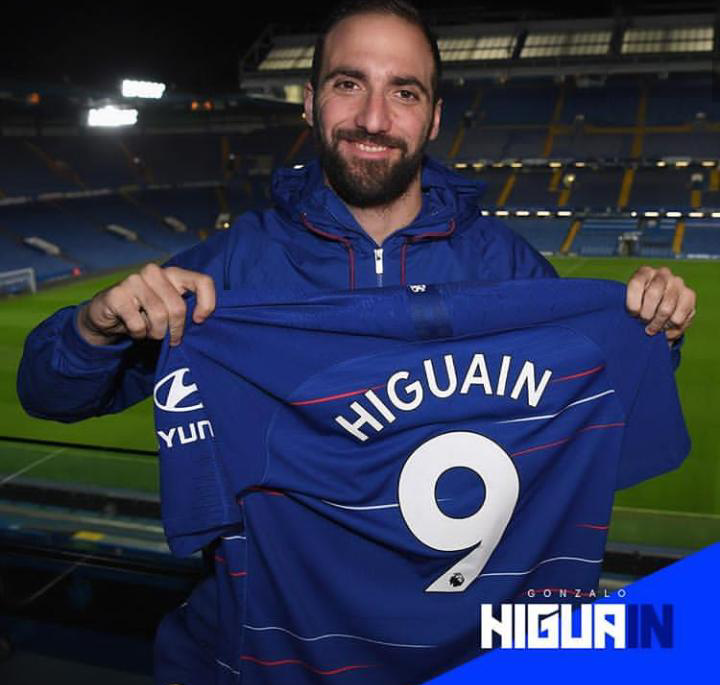 Executive Privilege Senator: Higuain Stars As Chelsea Slam 5 Past Huddersfield